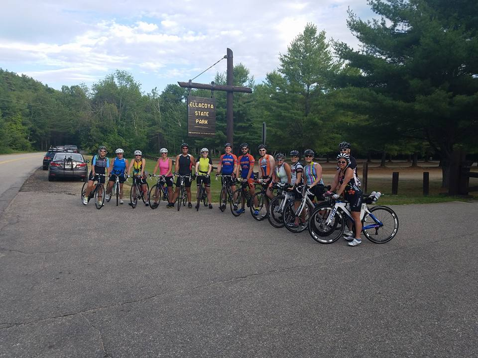 Members prepare for August Timberman race with a pre-ride of the course in July